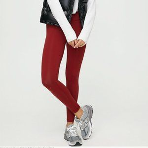 Aritzia Talula Wine Red Colored Leggings XS